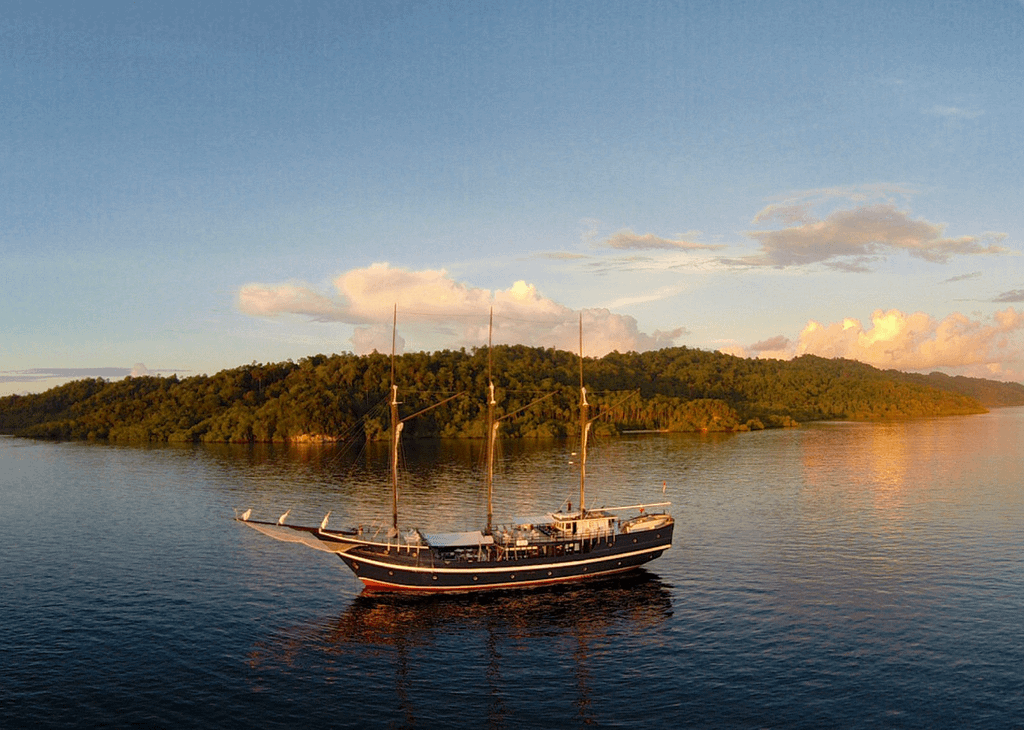 Liveaboard boat in Indonesia